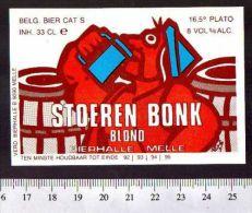 Belgian Beer Label - Van Steenberge Brewery - Belgium - Stoeren Bonk Blond - Beer