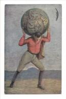 11554 - Bohumil Kozina Nas Herkules Czech Patriotic Postcard Prag - Tchéquie