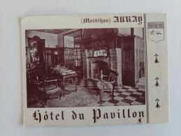 Auray ( Morbihan ) Ancien Dépliant  L´Hôtel Du Pavillon Vues De L´Hôtel - Dépliants Touristiques