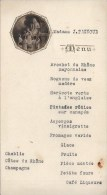 MENU 1923 Lyon - Menus