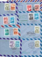 MALEV Flightpost LEGIPOSTA Set Of 8 Airletters 1969 - 1973 (329) - Luftpost