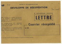 ENVELOPPE DE REEXPEDITION DE LA POSTE - Documents De La Poste