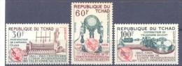1965. Chad, 100y Of International Union Of Telecommunication, 3v,  Mint/** - Chad (1960-...)