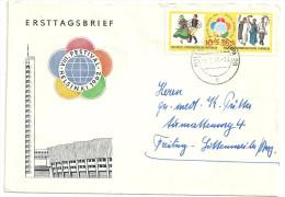 Deutschland DDR Mi 905 906. Weltfestspiele Der Jugend Auf Brief 18.7.1962 Halle - DDR