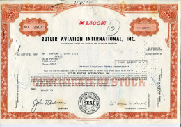 ACCIONES TITULOS SHAREHOLDING TITRES 2300 SHARES BUTLER AVIATION INTERNATIONAL, INC. YEAR 1973 TBE GECKO - Transporte