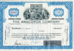 ACCIONES TITULOS SHAREHOLDING TITRES 3 THE ANACONDA COMPANY YEAR 1957 TBE GECKO - Industrie