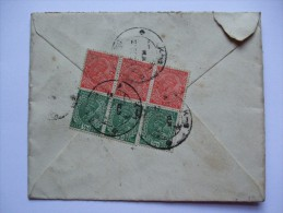 INDIA GEORGE V 1936 AIR MAIL COVER TO LONDON RE-DIRECTED TO BARNES - Indien (...-1947)