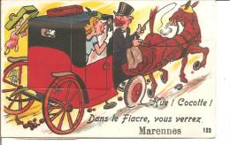 MARENNES Carte A Tirette ,Hue Cocotte! Complet - Marennes