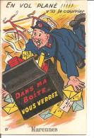 MARENNES Carte A Tirette , En Vol Plané!! Facteur , Complet - Marennes