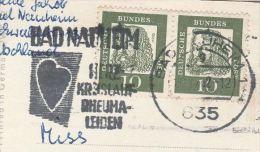 1962 Cover CARDIOVASCULAR RHEUMATIC Illus HEART Slogan Pmk GERMANY Bad Nauheim Health Medicine Hydrotherapy Card - Hydrotherapy
