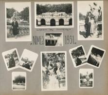 Lot De 18 Photos Amateur Nîmes 1931 - Photographie Ancienne No CPA - Nîmes