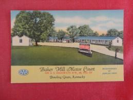 Kentucky> Bowling Green  Baker Hill Motor Court    Ref 1696 - Bowling Green