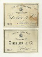 51 AVIZEL ETIQUETTES DE CHAMPAGNE GIESL & CO PUBLICITE MARNE - Champagne