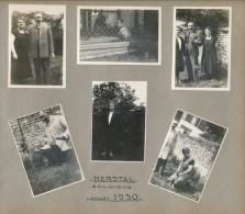 Lot De 6 Photos Amateur Herstal Belgique 1930 - Photographie Ancienne No CPA - Herstal