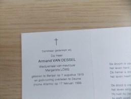 Doodsprentje Armand Van Dessel Berlaar 7/8/1919 Deurne 17/2/1999 ( Margareta Löwe ) - Religione & Esoterismo