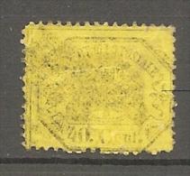 Yv. N° 24 ; SASS N° 29   (o)  Jaune   40c  Cote 50 Euro  BE R 2 Scans - Etats Pontificaux