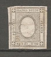 SARDAIGNE   Yv.  N° 16  Sans Chiffre,   SASS  N° 19  (o)  1c  Noir   BE R 2 Scans - Sardinia