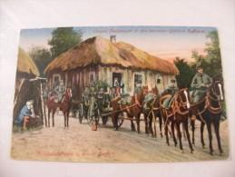 Armée Allemande Russie Munitionskolonne In Einem Dorf 1917 - Guerra 1914-18