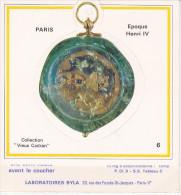 Montre De Gousset Signée Jean Barberet, époque Henri IV, Pub. Médicale Des Labo Pharmaceutiques BYLA - Publicités