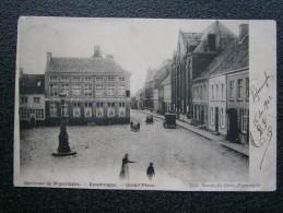 Poperinge - Roesbrugge : Environs de Poperinghe - Rousbrugge - Grand 'Place  TOP !!!! afstempeling 1902