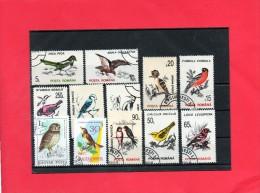12 Valeurs O/b Thème  Faune Oiseau . - Briefmarken