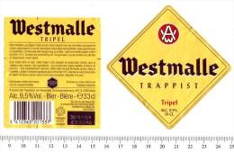 Belgian Beer Label - L'Abbaye Trappiste Brewery - Belgium - Westmalle Tripel - Beer