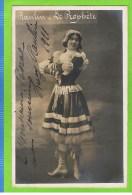 Lucy Raulin   danseuse in 'Le Proph�te' 1910 Autographe Th�atre Royal d'Anvers