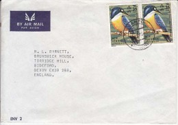 New Hebreds Islands Airmail Cover, To Finland Stamps, Birds  (Z-8609) - Vanuatu (1980-...)