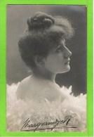 Marguerite Van Dyck seconde dugazon 1906 Th�atre Royal d�Anvers  autographe