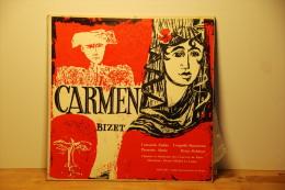 BIZET.CARMEN.CHOEURS ET ORCHESTRE DES CONCERTS DE PARIS.PIERRE MICHEL LECONTE.3 X 33T - Classique