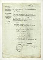07 TOURNON  JUSTICE LOI MANUSCRIT  1816  SOUS PREFET ARDECHE - Manuscrits