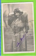 Dona Mativa  Premi�re dugazon 12 f�vrier 1904 Th�atre Royal d�Anvers Autographe,broken card
