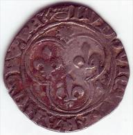 LOUIS XI - Douzain Ou Blanc Au Soleil. Atelier: Saint-André-Villeneuve-Les-Avignon - 1461-1483 Louis XI Le Prudent