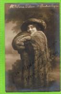 Lina Dilson  1913   Premi�re Chanteuse L�g�re Th�atre Royal d�Anvers,Autographe