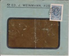C25 Tschechoslovakei Tchecoslavakia Tchecoslovaquie 1921 Brief Von Aussig Mi. 161 EF - Brieven En Documenten