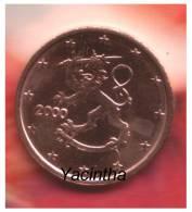 @Y@ Finland  1 - 2 - 5 Cent  2000  Unc - Finnland