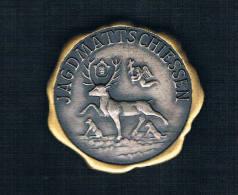 JAGDMATTSCHIESSEN. CIERVO SOBRE FONDO PLATEADO Y DORADO - Monedas