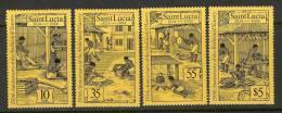 St. Lucia Abolition Of Slavery Set SC# 706-09 MNH** - St.Lucia (1979-...)