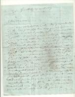 38 GRENOBLE  DESAIGNES LETTRE MANUSCRIT 1847 SCEAU CACHET DE CIRE ISERE ARDECHE - Manuscripts