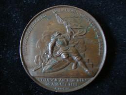 Schweiz Eidgenossisches Freischiessen Basel 1844 Bronze 36 Mm 26,52 Gr. - Jetons & Médailles