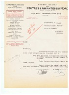 FEUTRES & AMIANTES DU NORD  à  LOUVIGNIES - BAVAY  (NORD)  1948 - Frankrijk