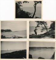 Lot De 10 Photos Amateur Ile De Noirmoutier 1952 - Photographie Ancienne No CPA - Ile De Noirmoutier