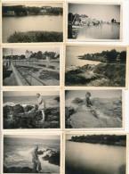 Lot De 16 Photos Amateur PORNIC 1952 - Photographie Ancienne No CPA - Pornic