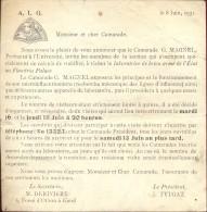 Universiteit Gent AIG - Uitnodiging Prof Magnel 1931 - Vieux Papiers