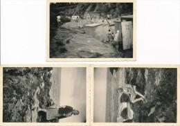 Lot De 3 Photos Amateur PORNIC 1952 - Photographie Ancienne No CPA - Saint Nazaire