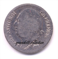 FRANCIA ½ FRANCO 1823 PARIGI RE LUIGI XVIII MONETA ARGENTO - J. 5 Francs