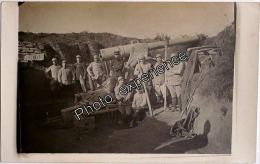 CPA Carte Photo Guerre 14-18 Militaire Artillerie Regiment Artillery Military WW1 - Guerre 1914-18