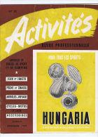 ACTIVITES N°10 1949   Peche Jouets Camping Sports - Livres, BD, Revues