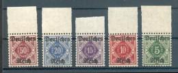 DR-Dienst 52-56 HERRLICHER OBERRANDSATZ**POSTFRISCH 80++EUR (71172 - Dienstzegels