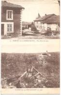 Dépt 55 - FLEURY-DEVANT-DOUAUMONT - Multi-vues (2 Vues) - Une Rue En 1914 Et Fleury-en-Douaumont En 1921 - (ruines) - Autres Communes